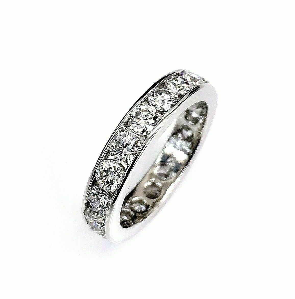 2.51 Carats t.w. Diamond Eternity Ring 950 Platinum F VS Diamonds Brand New