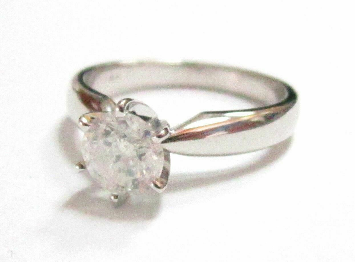 .92Ct Natural Round Brilliant Cut Diamond Solitaire Engagement Ring Size 5.5