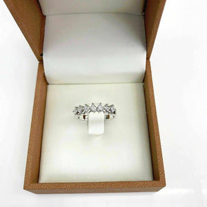 0.53 Carats t.w. Seven Princesss Cut Diamond Anniversary/Stack Ring 14K Gold New