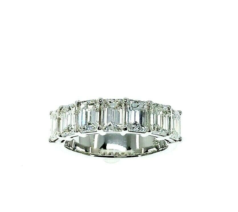 2.80 Carats Emerald Cut Diamond Anniversary Wedding Band Ring Average .40 Carat