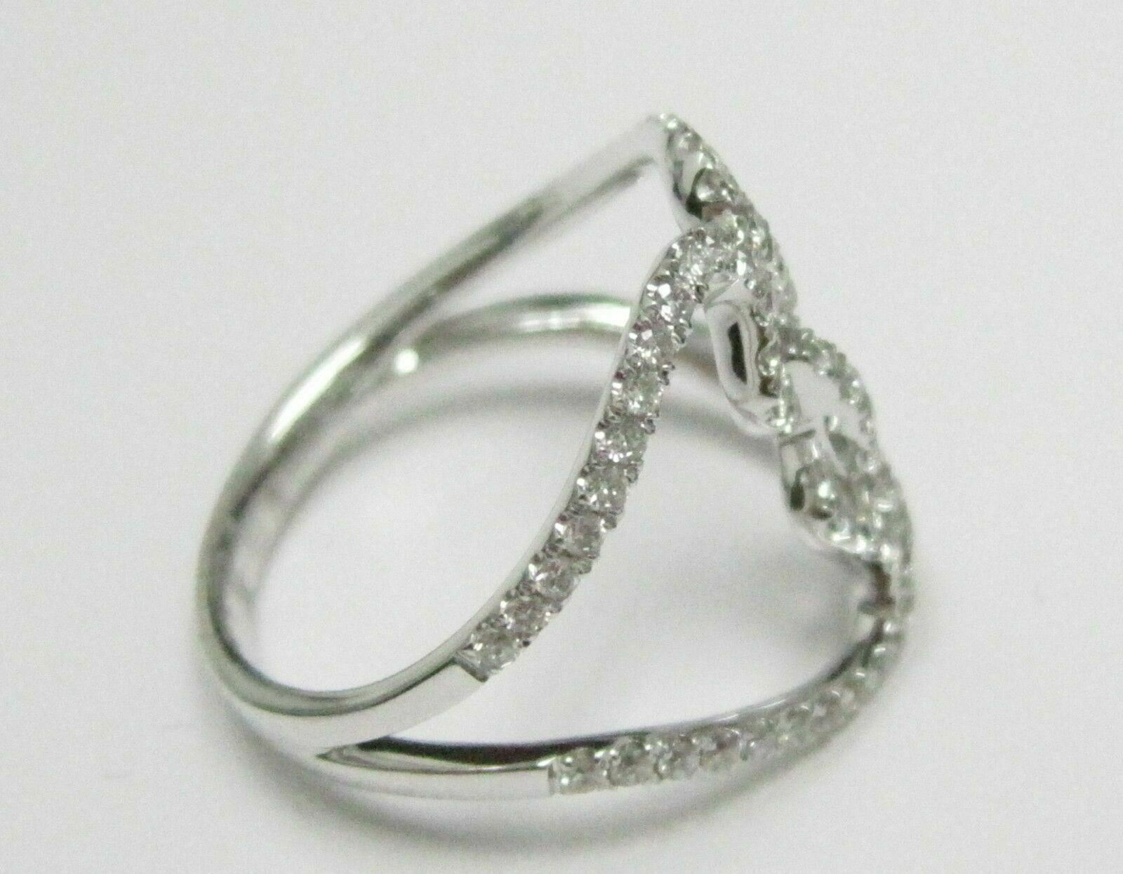 .61 TCW Round Brilliant Cut Micro Slim Diamond Ring G SI1 18kt White Gold