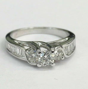 0.85 Carat t.w. Diamond wedding/Anniversary Ring 14K Gold