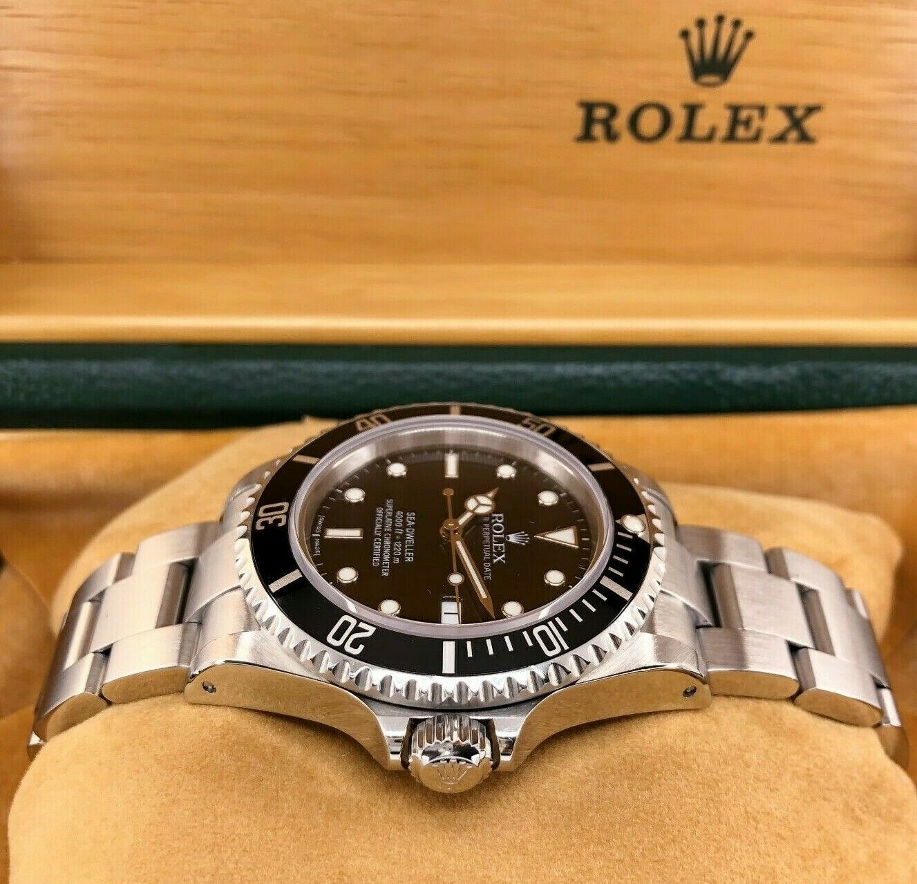 Rolex 40mm Sea Dweller Stainless Steel Watch Ref 16600 Vintage P Serial