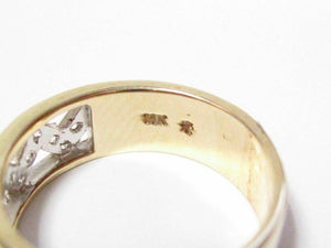 .30 TCW Round Brilliant Cut Diamond Ring/Band Size 7 G VS2 18k Yellow Gold
