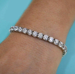 16.59 tcw Round Brilliant Diamond Tennis Bracelet in 18K White Gold