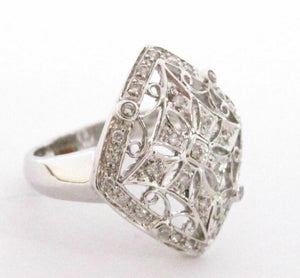 .30 TCW Victorian/Art Deco Round Cut Diamond Cocktail Ring Size 7 G SI1 14k Gold