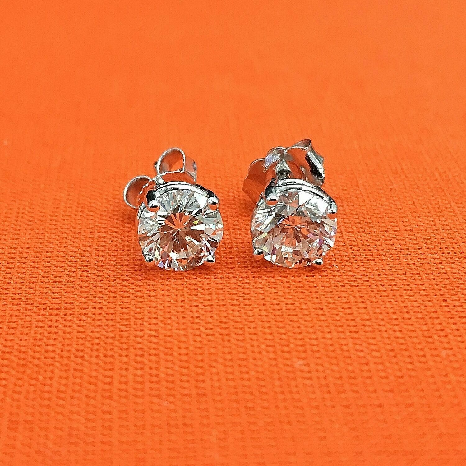 1.41 Carats t.w. Diamond Stud Earrings 14K Gold EGL USA G-H SI Diamonds