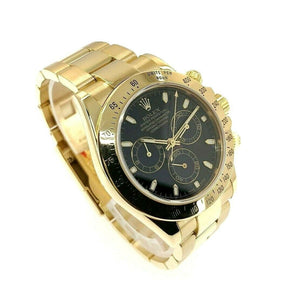 Rolex Cosmograph Daytona 40mm 18K Yellow Gold Watch Ref 116528 Y Serial 2002