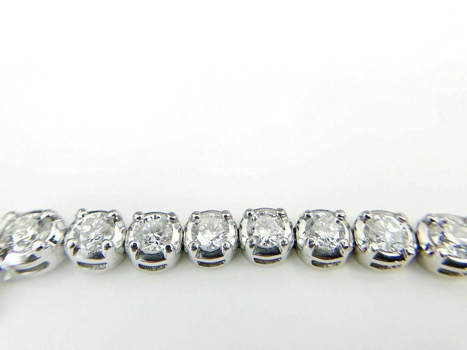 7.25 tcw Round Brilliant Diamond Tennis Bracelet in 14K White Gold