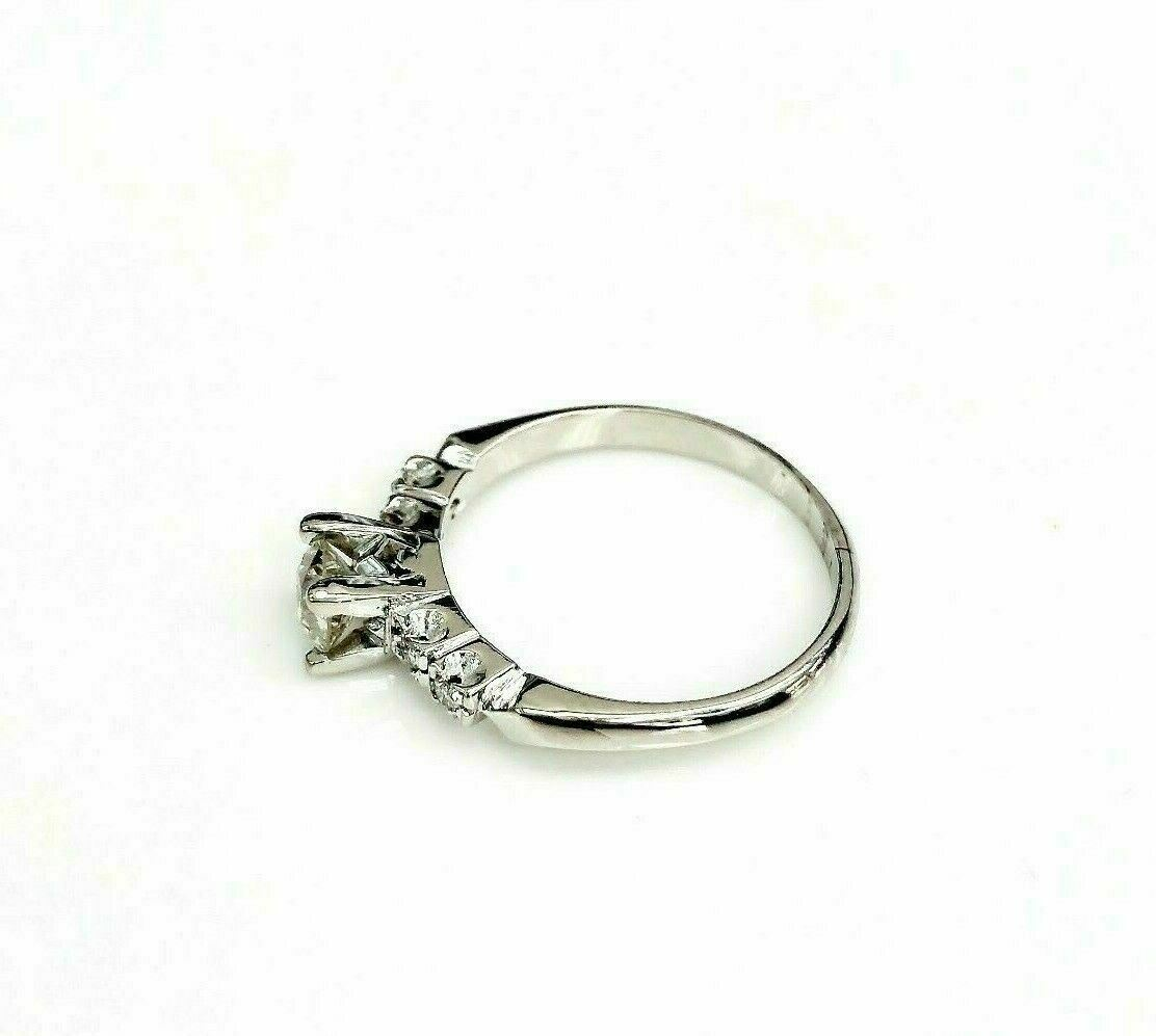 Antique Platinum Diamond Wedding Ring Circa 1950's 0.55 Carat t.w.