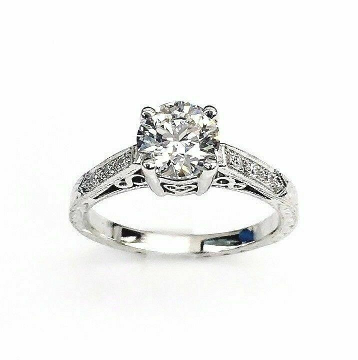 Tacori Platinum Diamond Wedding/Engagement Ring 1.02 Carats GIA D FlawlessCenter