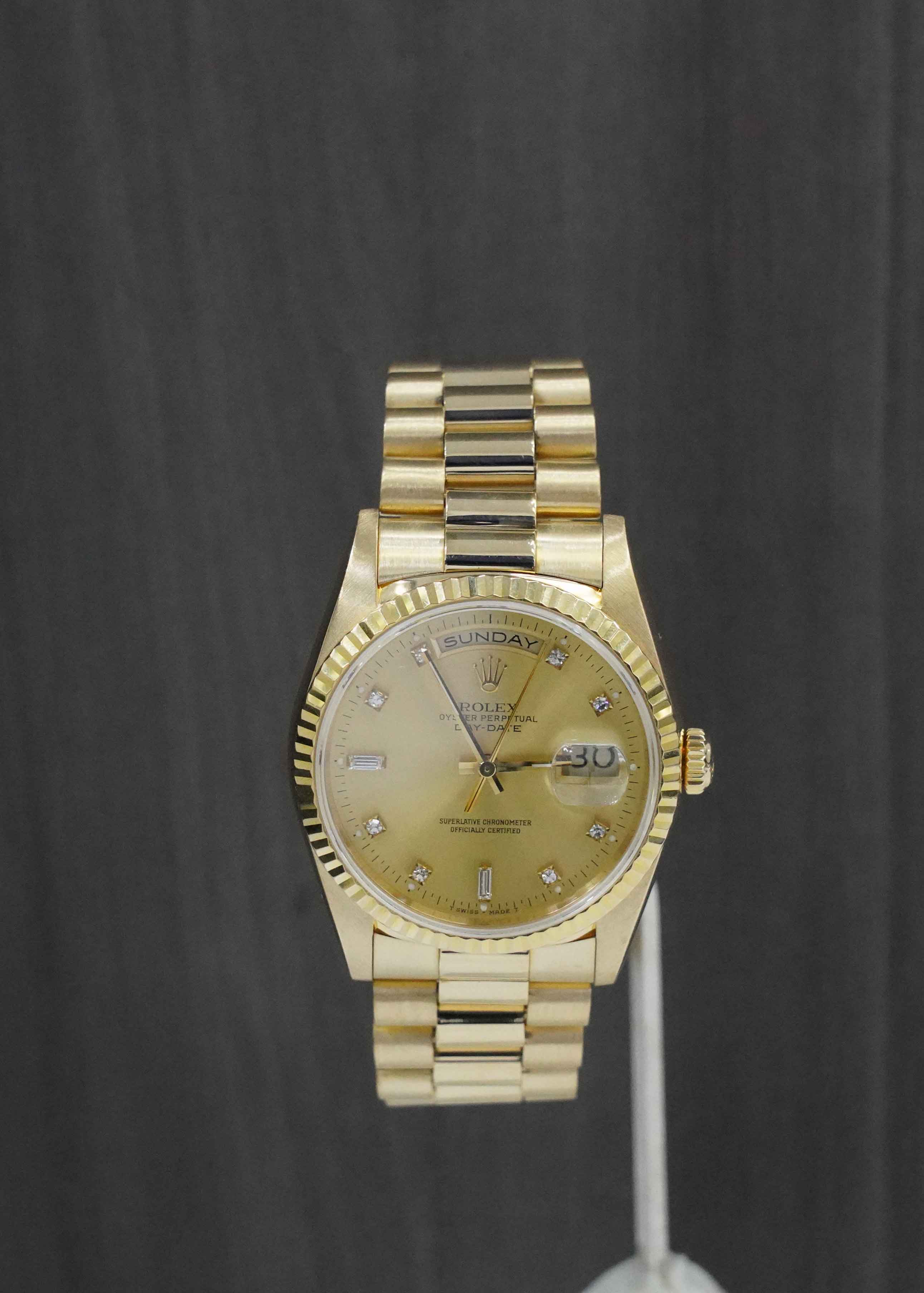 Rolex DayDate President with Factory Diamond Dial 36mm 18238