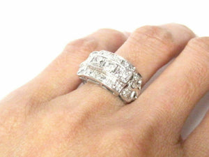 Fine Round Brilliants Antique InsPired Diamond Ring 14kt White Gold
