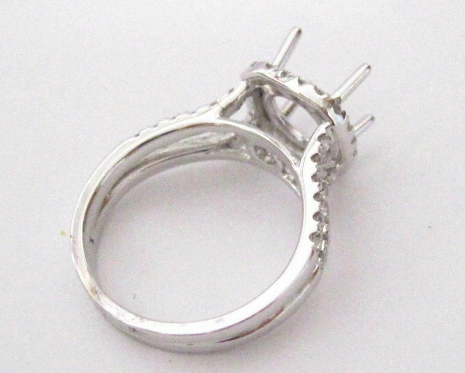 4 Prongs Semi-Mounting for Round or Cushion Diamond Ring Engagement 14k