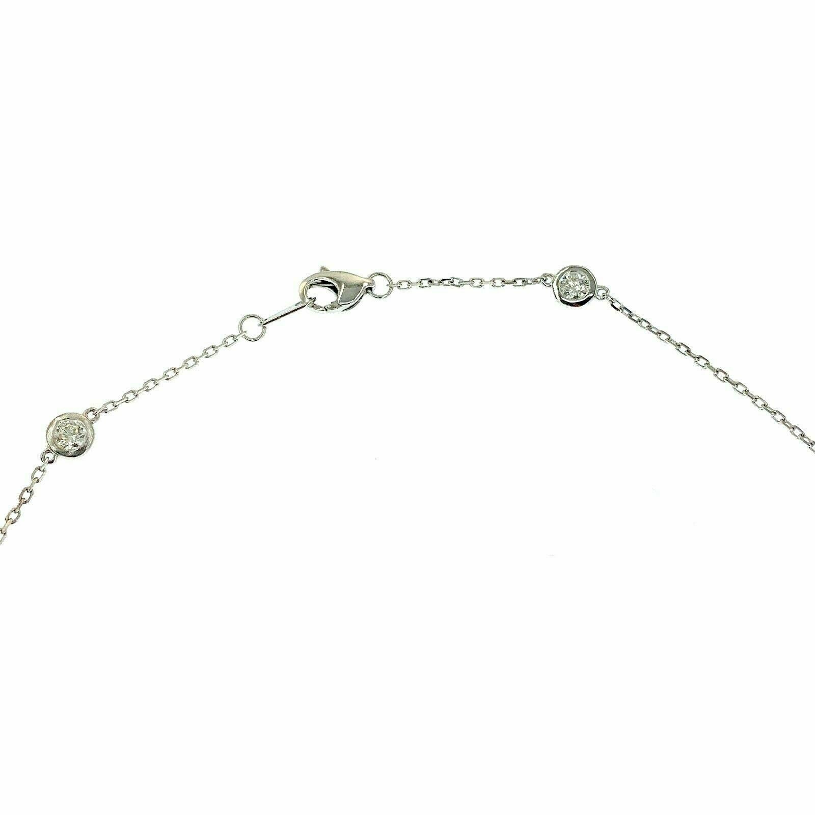 1.22 Carats t.w. Hand Assembled Diamond by The Yard Necklace Chain 14K 20 Inches