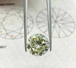Loose GIA Diamond Very Large 6.11 Carats GIA Light Fancy Yellow Round Brilliant
