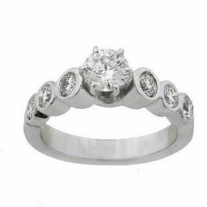 .1.80 TCW Round Brilliants Diamonds Engagement/Anniversary Ring Size 6 G SI-1