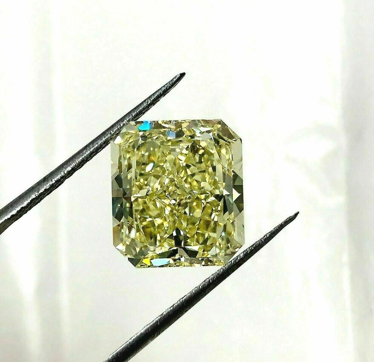 Loose GIA Diamond - 7.59 Carats Fancy Yellow GIA VVS1 Radiant Cut Diamond