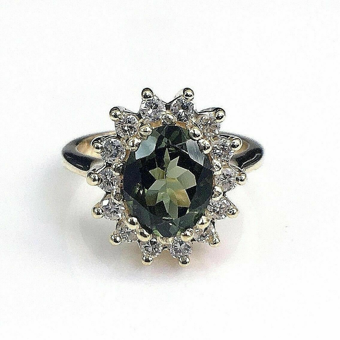 2.22 Carats t.w. Diamond and Tourmaline Cocktail Ring Tourmaline is 1.72 Carats