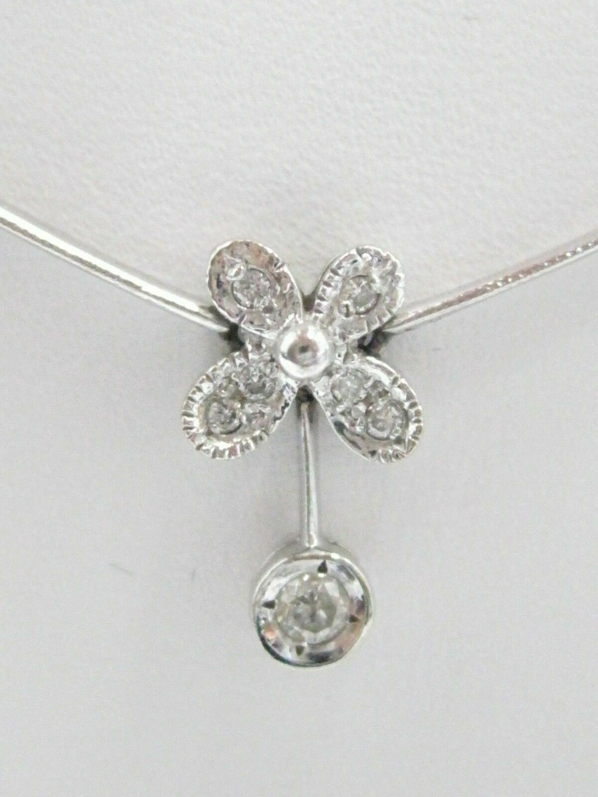 .85 TCW Round Brilliants Diamond Flower Pendant Necklace G SI1 14k White Gold