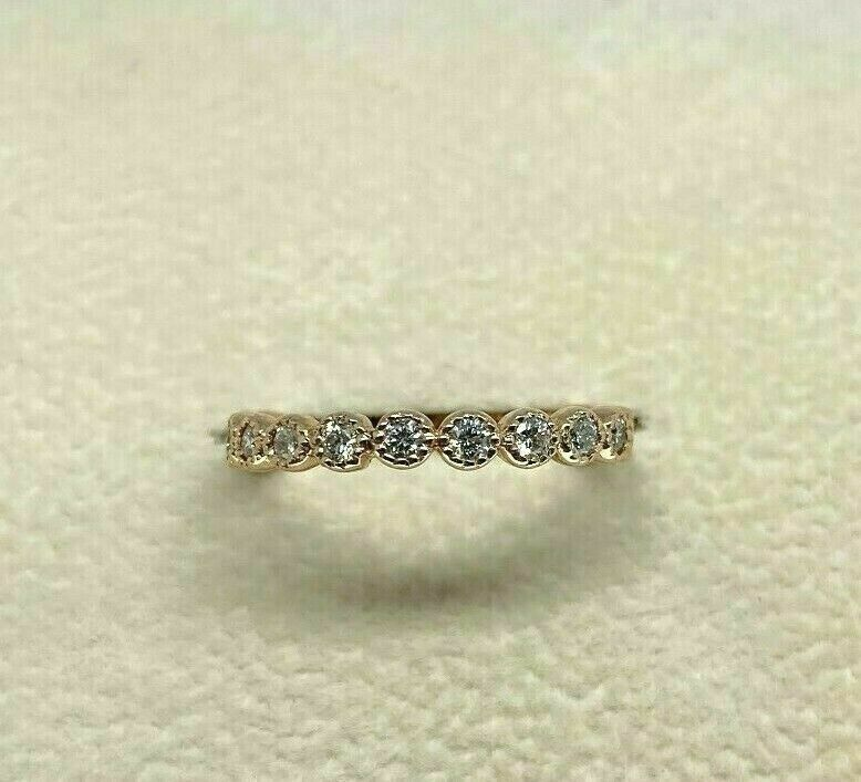 0.39Carat t.w. Diamond Stack/Eternity Ring 14K Rose Gold Round Diamonds