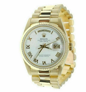 Rolex Day Date Presidential 18038 White Dial Yellow Roman 18k Yellow Gold