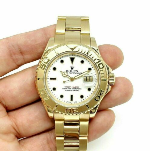 Rolex 40MM Mens Yacht-Master Solid 18K Yellow Gold Watch Ref # 16628B A Serial
