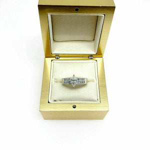 0.85 Carats t.w. Marquise and Princess Cut Engagement Ring Channel Set 18K Gold
