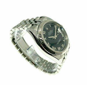 Rolex 36MM Datejust Watch 18K Gold/Stainless Ref # 116234 Factory Black Dial