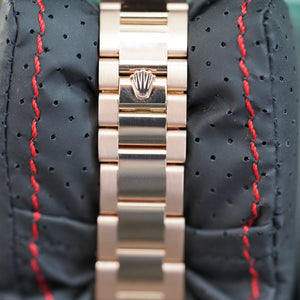 Rolex President Rose Gold W/ Smooth Bezel and Roman RG Dial 36 MM R#118205F