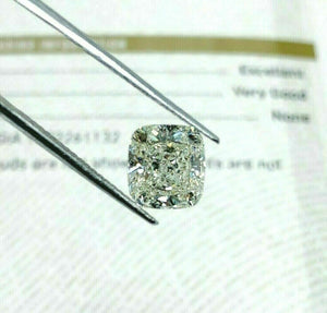 Loose GIA Diamond - GIA 3.01 Carats Cushion Brilliant Cut K SI1 EX VG Cut