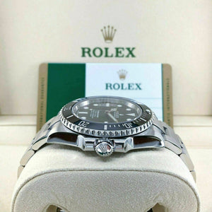 Rolex Ceramic Black Submariner No Date Stainless Steel Watch Ref 114060 Box Card