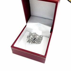 1.80 Carats t.w. Diamond Index Ring/Anniversary Ring 14K Gold 0.60 Inch Wide