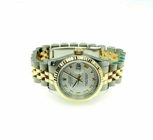 Rolex 26MM Lady Datejust 18 Karat Yellow Gold Steel Watch Ref # 179173 D Serial