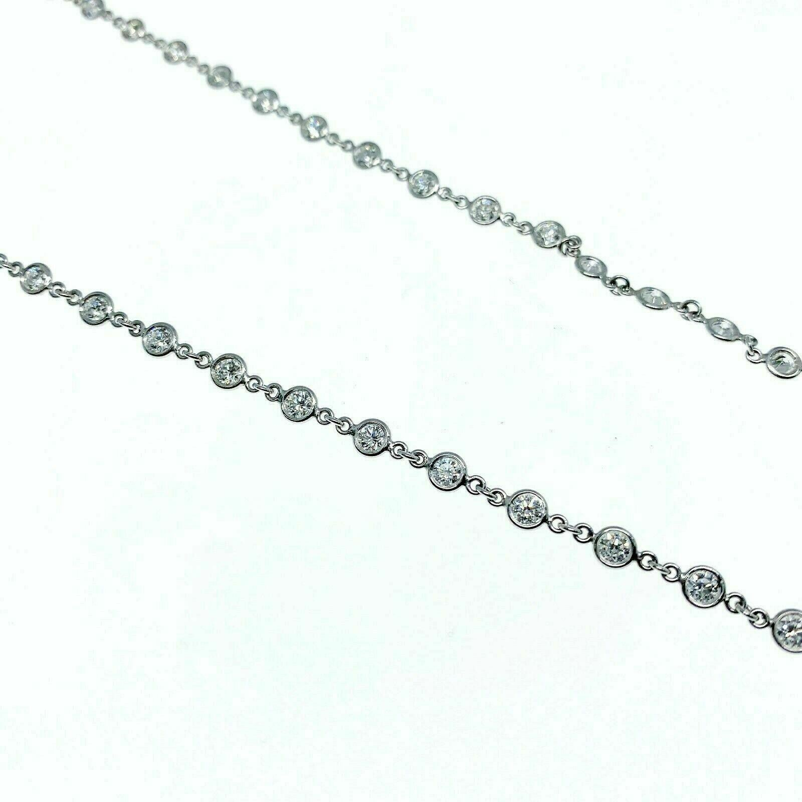 Estate 9.60 Carats t.w. E- F Color VS Diamond Handwire Diamond by The Yard Plat