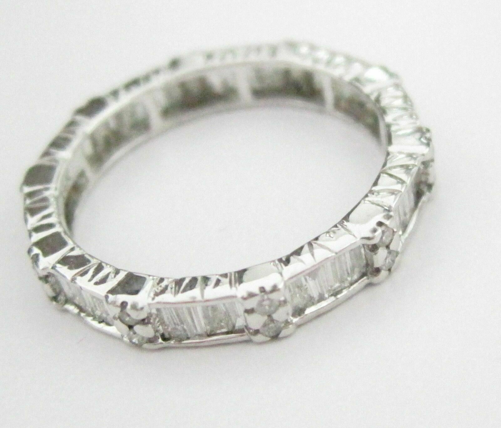 1.87 TCW Baguettes Cut Diamond Eternity Ring/Band G SI-1 Size 4.5 14k WG