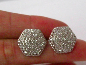 1.50 TCW Round Cut Diamond Illusion Earrings H SI1 Push Back 14k White Gold