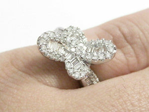 Round & Baguette Cut Diamond Cocktail Ring