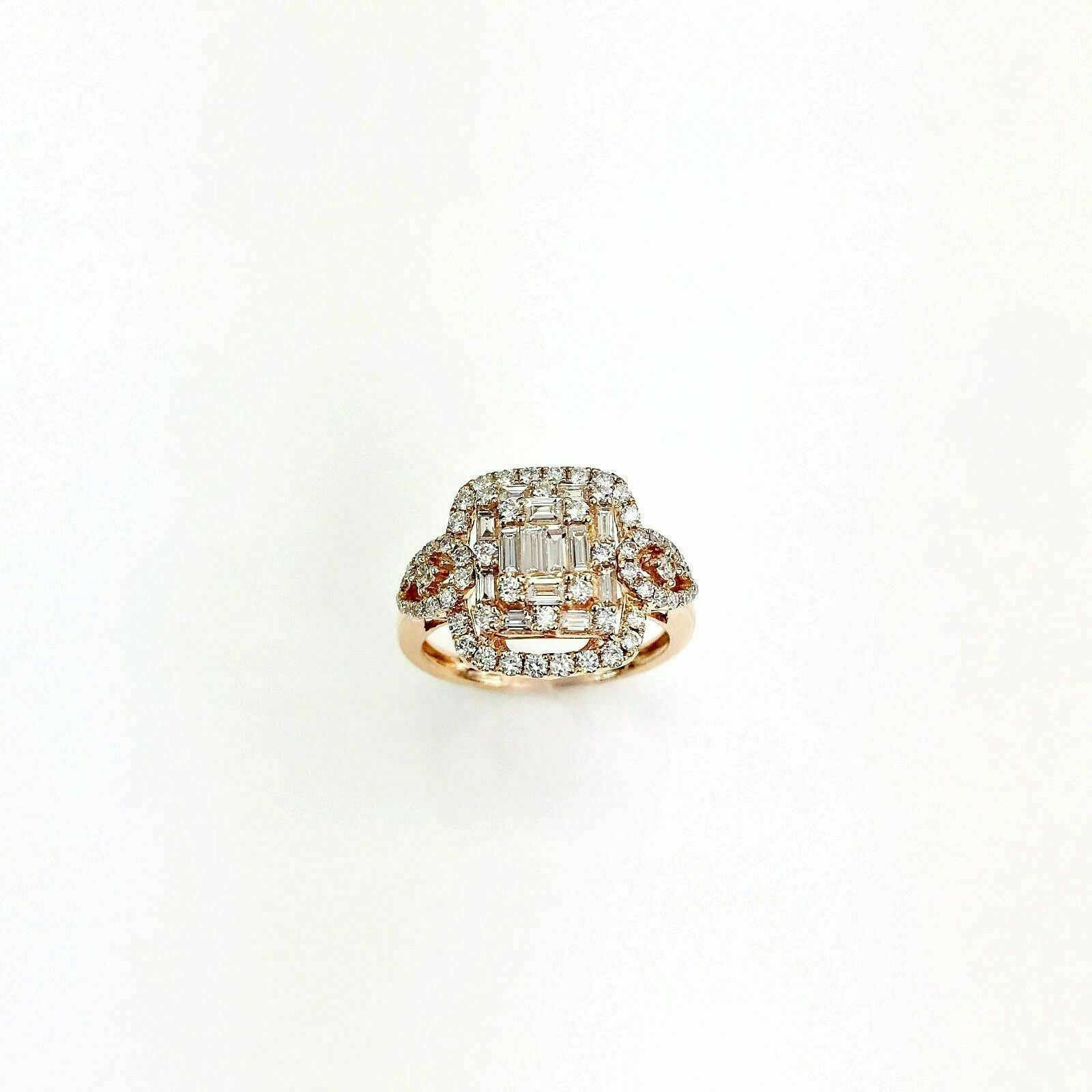 1.14 Carat Diamond Invisible Set Halo Celebration/Anniversary Ring 18K Rose Gold