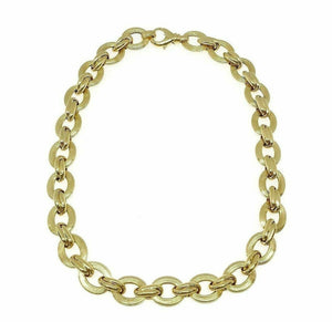 Solid 18 Karat Yellow Gold Reversible Necklace Chain 20 Inches 3.22 Ounces 18K