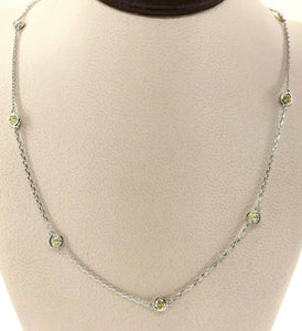 1.10 Carats Hand Assembled Fancy Yellow Diamond by The Yard Necklace Chain