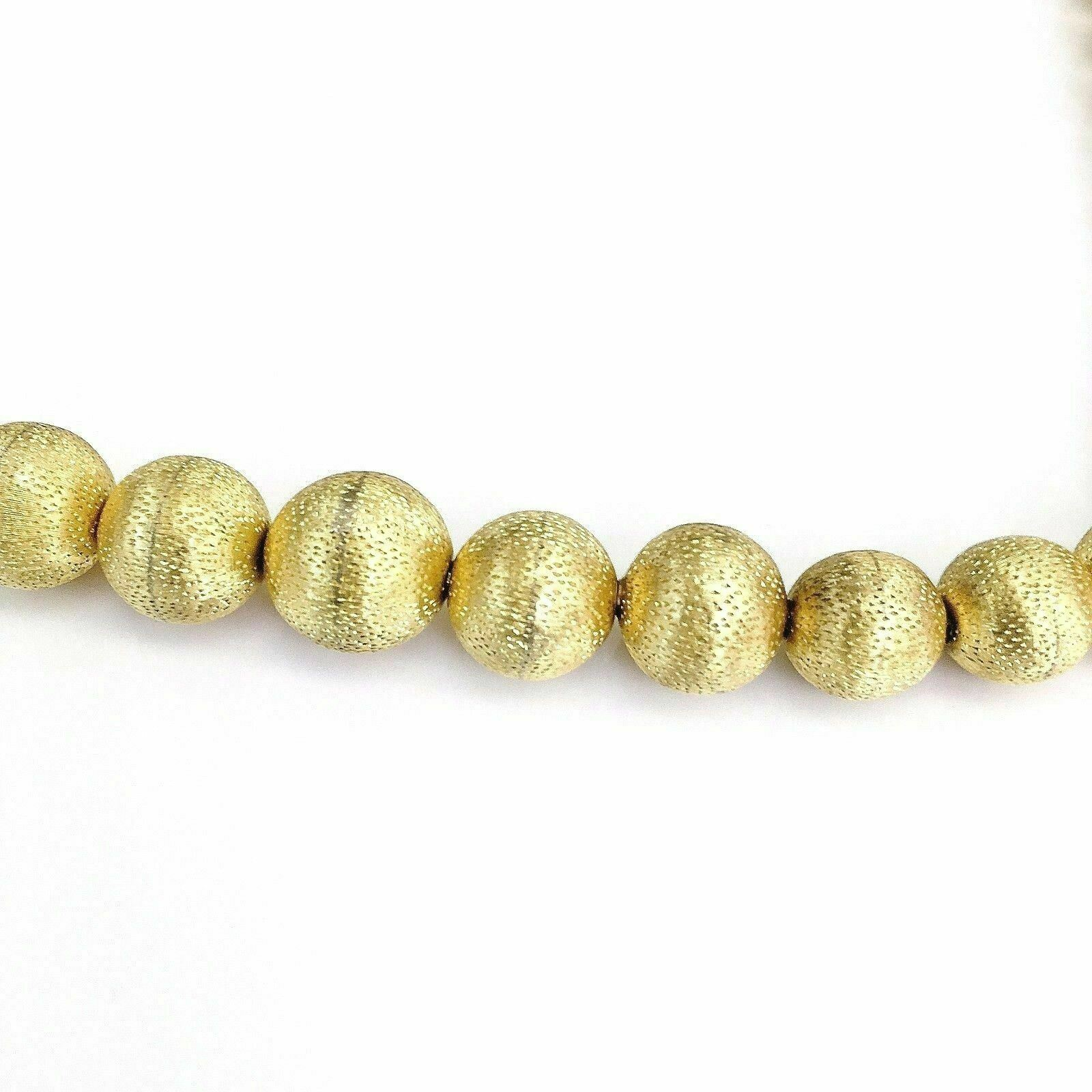 Vintage Tiffany & Co Solid 18K Gold Beaded Necklace 18 Inch 2.23 Oz 69.6 Gr