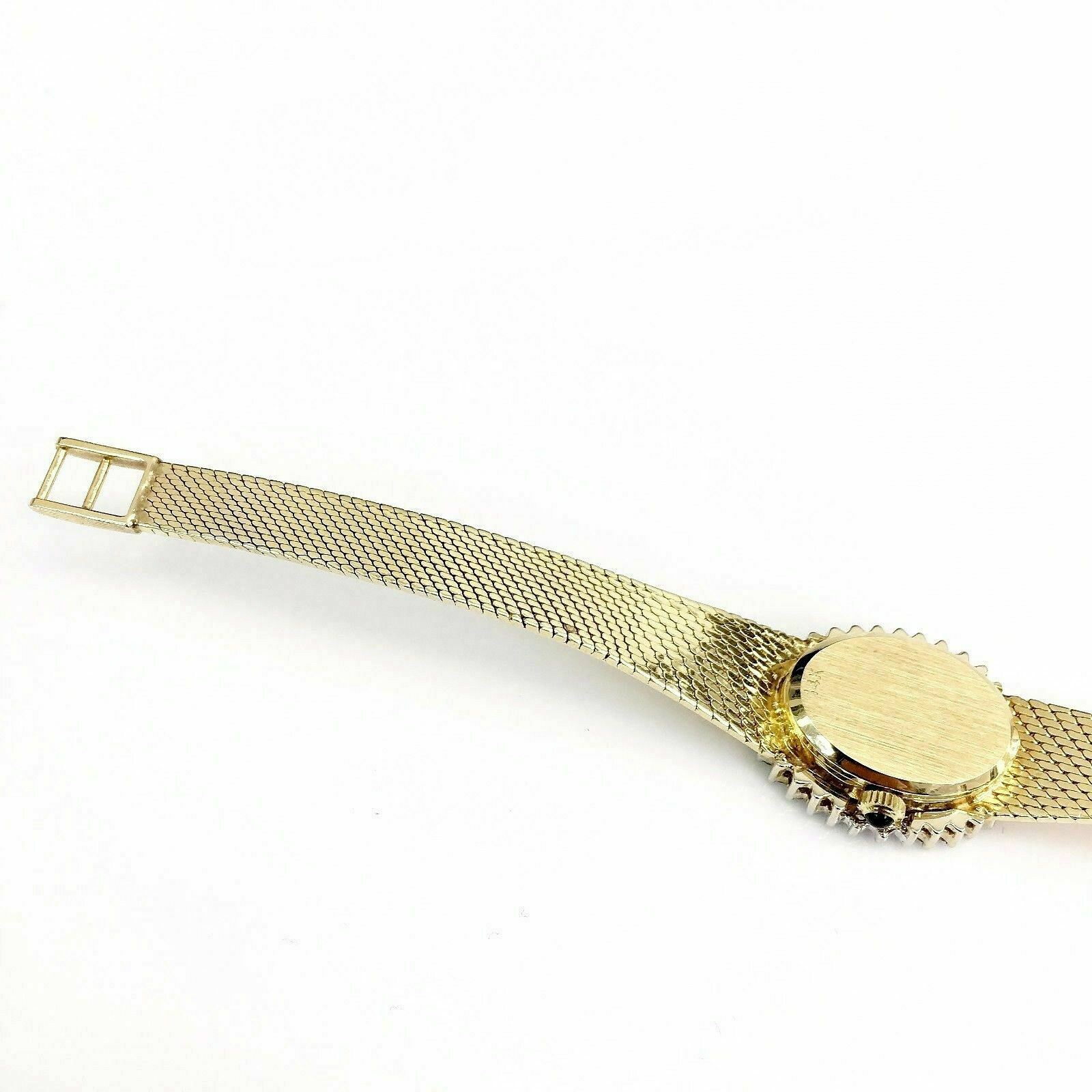 Womens Solid 14 Karat Yellow Watch Gold and 1.62 Carats of Diamonds Zenith Movem