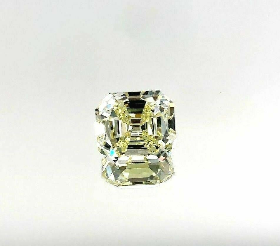 Loose GIA Diamond - 3.55 Carats Fancy Yellow GIA VS1 Squarish Emerald Cut