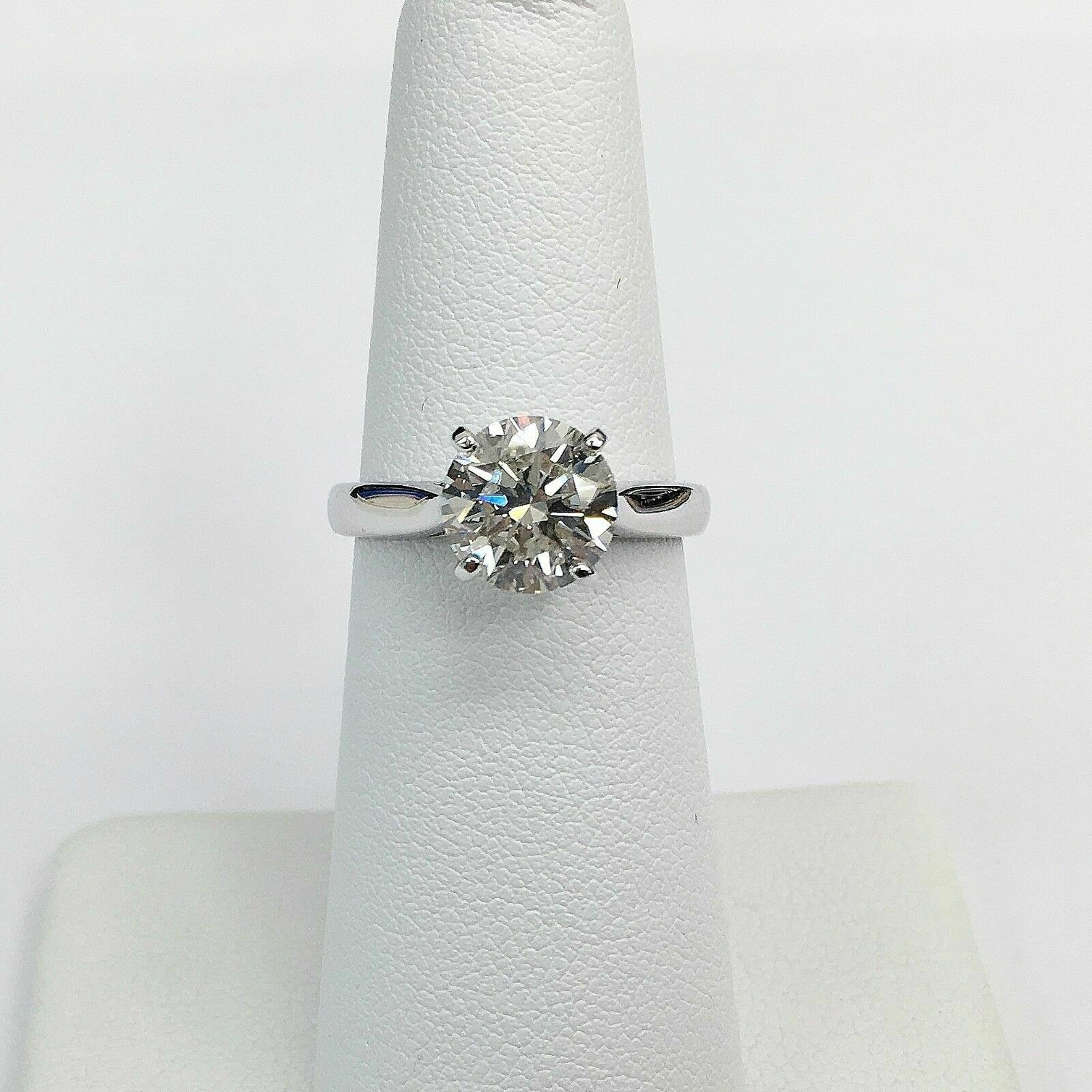 1.96 Carat Round Diamond Solitaire Wedding/Engagement Ring EGLUSA G-H SI2