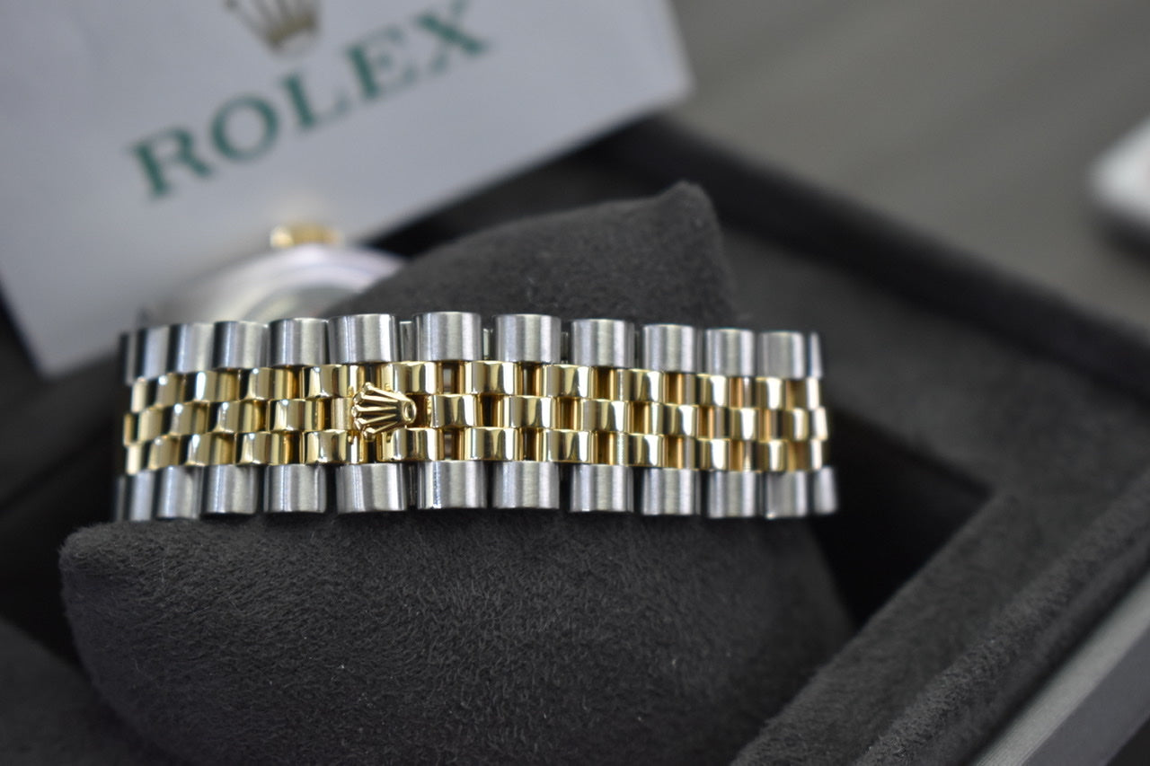 Rolex 36MM 18K Gold & Steel Datejust Diamond Dial Jubilee Band Watch R# 116233