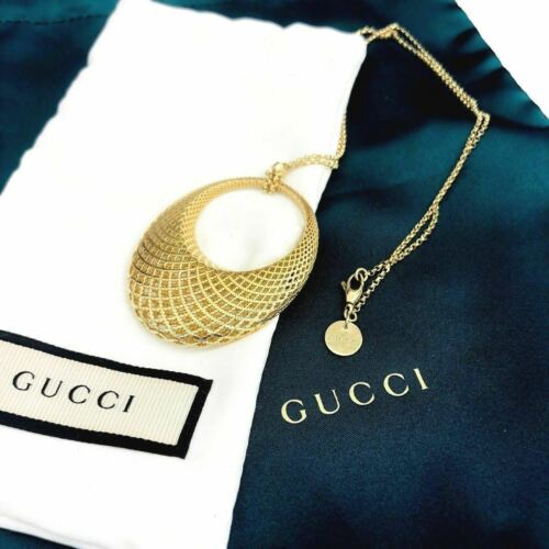 GUCCI Italian Made 18K Diamantissima Pendant with 18K Yellow Gold GUCCI Chain