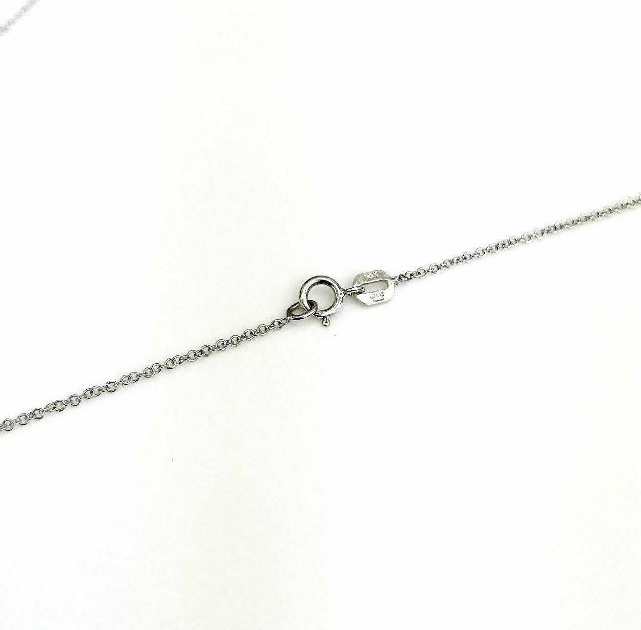 0.50 Carat 14K Round Bezel Diamond Solitaire Pendant with 14K White Gold Chain