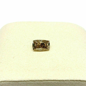 GIA Natural Fancy Dark Yellowish Brown 3.40 Ct GIA Elongated Cushion Cut Diamond