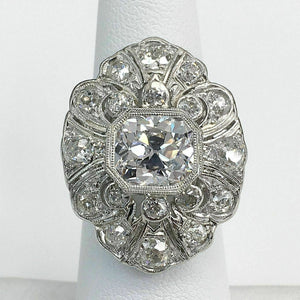 5.84 Carats Antique Old Mine Brilliant TYPE 2 A GIA D VS2 Platinum Ring